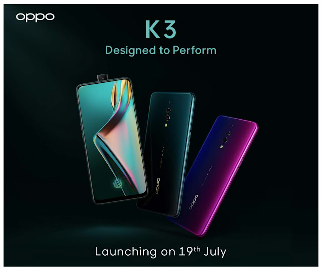 Oppo K3 with Snapdragon 710, pop-up selfie camera teased on Amazon