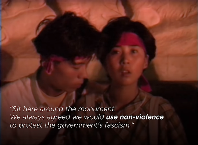 screenshot from a video about the Tiananmen Square protests