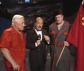 WWE / WWF Saturday Night's Main Event 2 - Mean Gene Okerlund interviews Nikolai Volkoff and Freddie Blassie