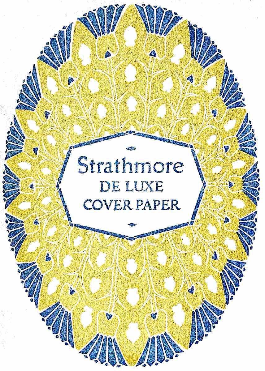 a 1921 graphic for Strathmore artist's paper in yellow and blue