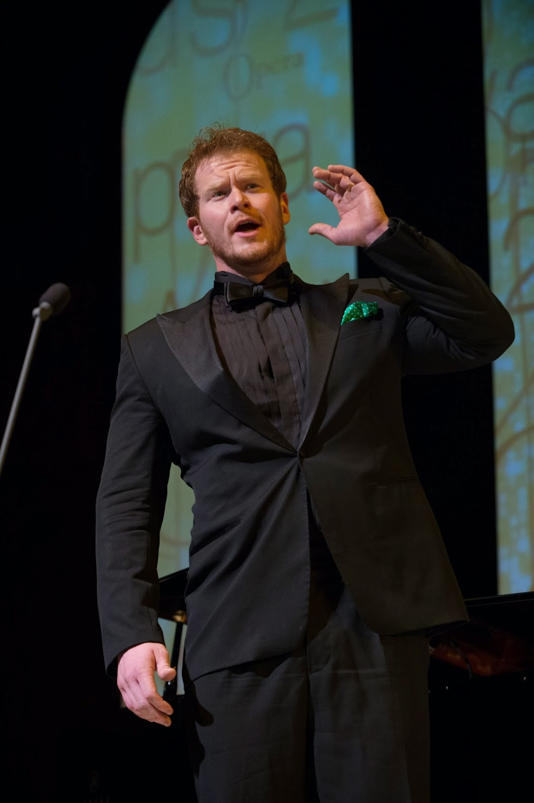 Duncan Rock performing at the Opera Awards - credit Jim Winslet