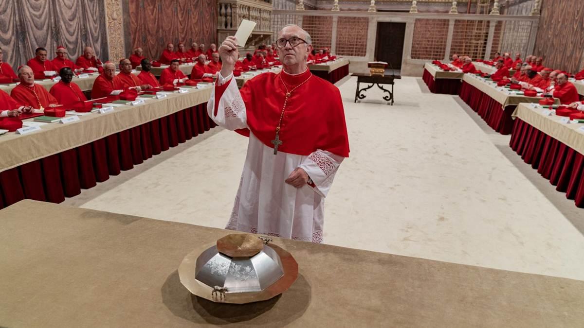Kardinal Bergoglio saat Konklaf di Kapel Sistina