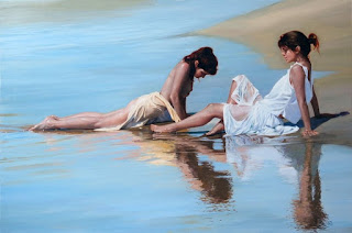 mujeres-escenas en-paisajes-calidos cuadros-mujeres-paisajes