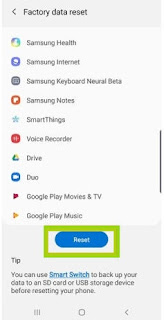 Mereset ulang Samsung m10