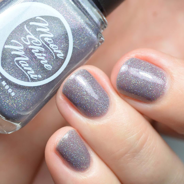 grey nail polish with indigo undertones