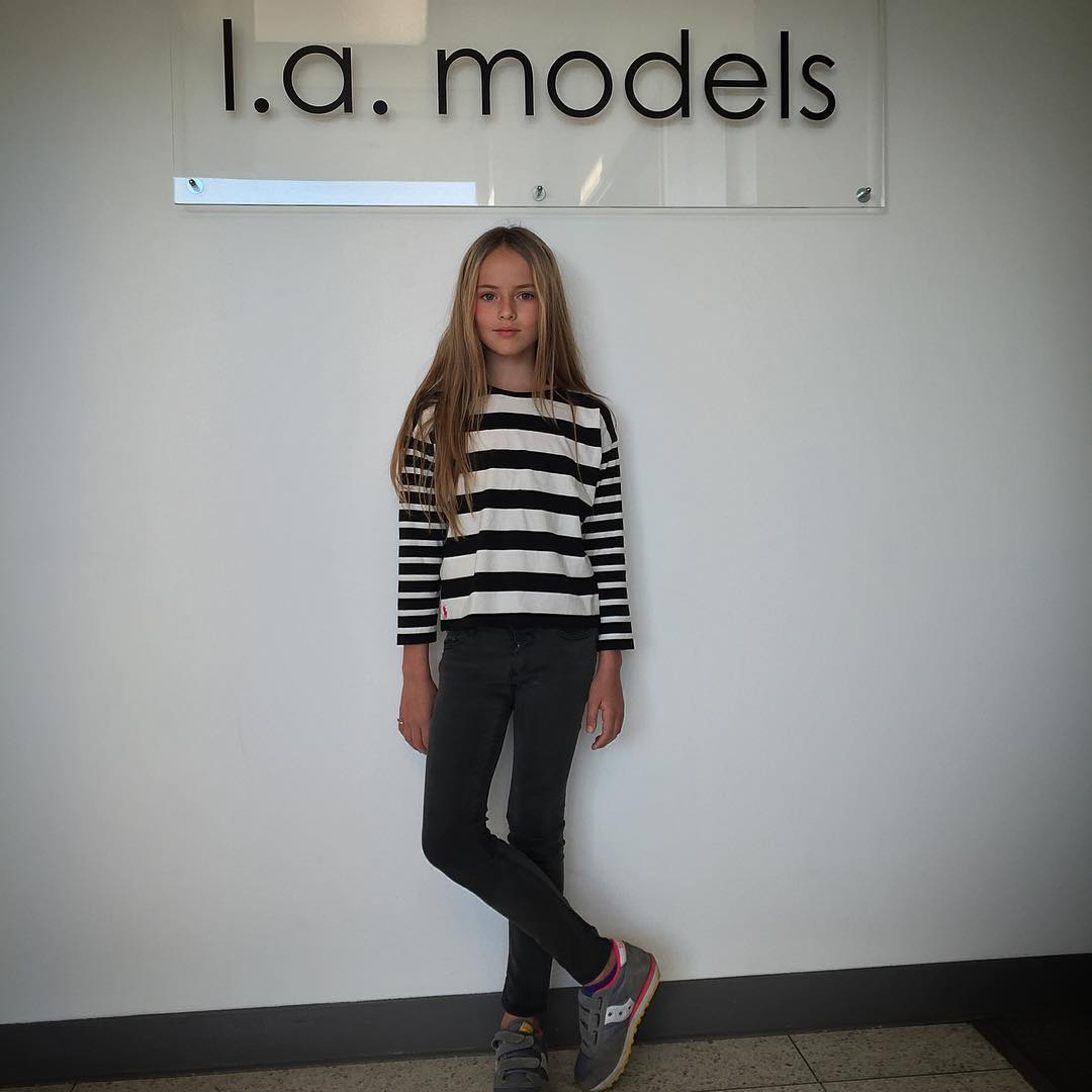 Kristina Pimenova is represented by two modeling agencies