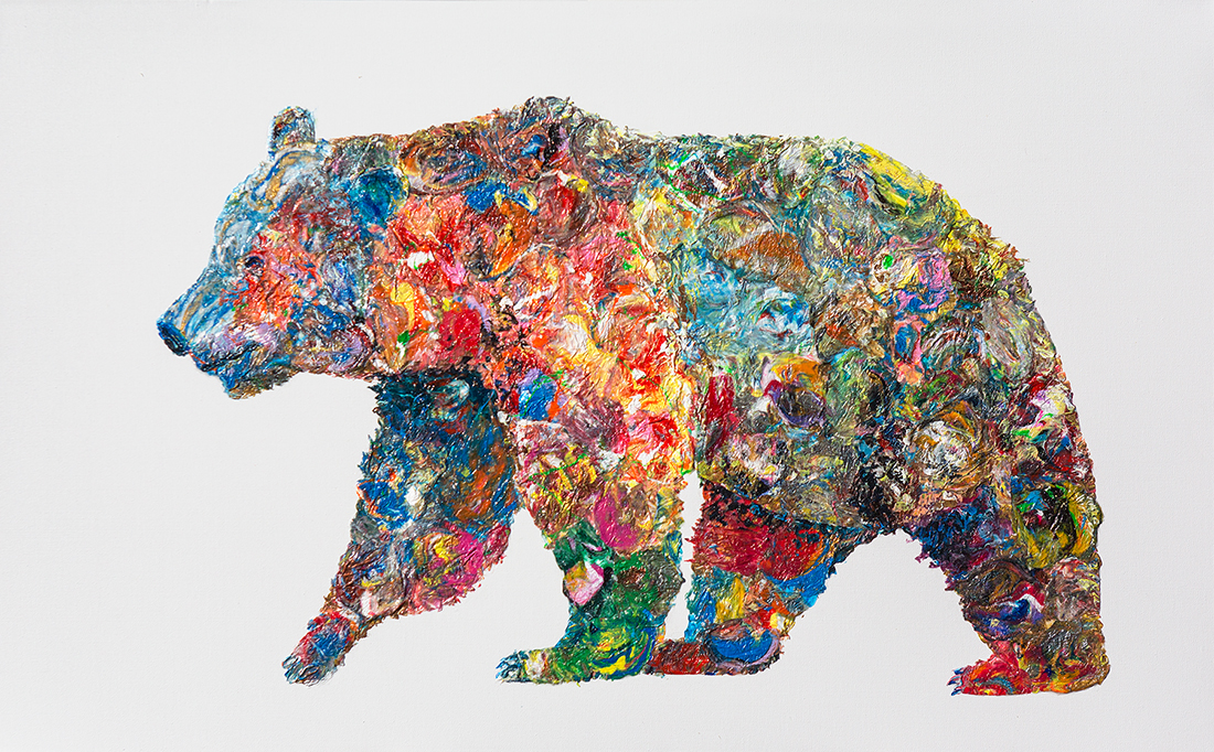 bear painting, polar bear dot , polar bear oil, bear mixed media, Grizzly Bear painting, bear 3d painting, bear dot painting, abstract bear art,bear textured, bear wall art, bear voznarski, bear pop art, acrylic bear,