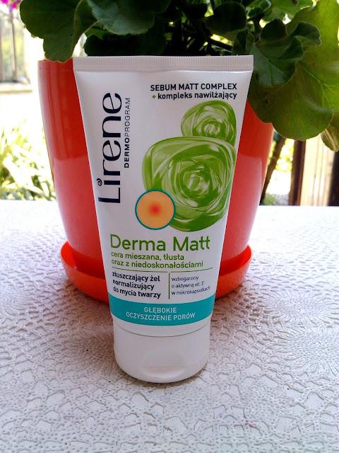 Lirene, Derma Matt, Złuszczający żel normalizujący do mycia twarzy