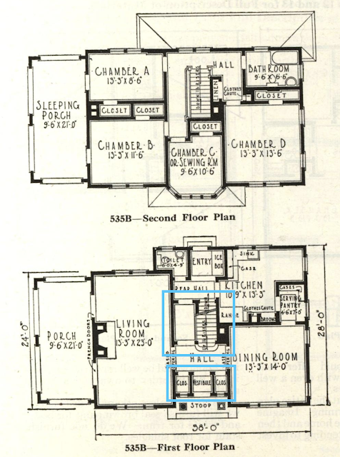 black and white catalog floorplan image GVT No 535B