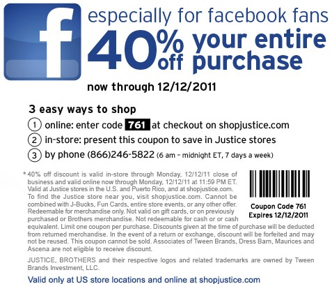 justice 40 coupon