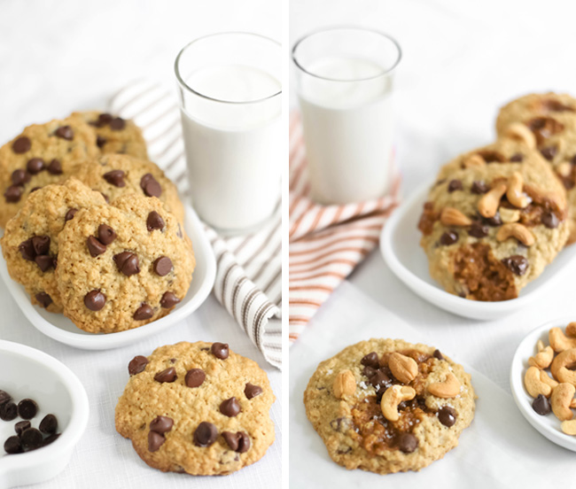 Puffy Oatmeal Chocolate Chip Cookies Sprinkle Bakes