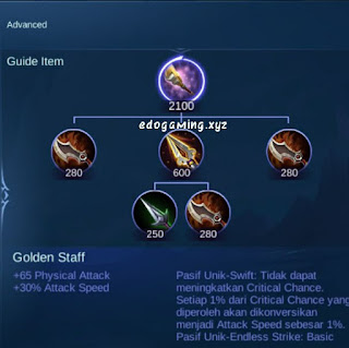 penjelasan lengkap item mobile legends item golden staff