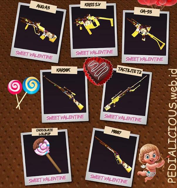 Harga & Statistik Seri Sweet Valentine Senjata Point Blank