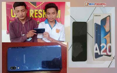 Mantaf! Unit Reskrim Polsek Medan Area Dengan Sigap Menangkap Dua Pria Penjambret Hp Samsung