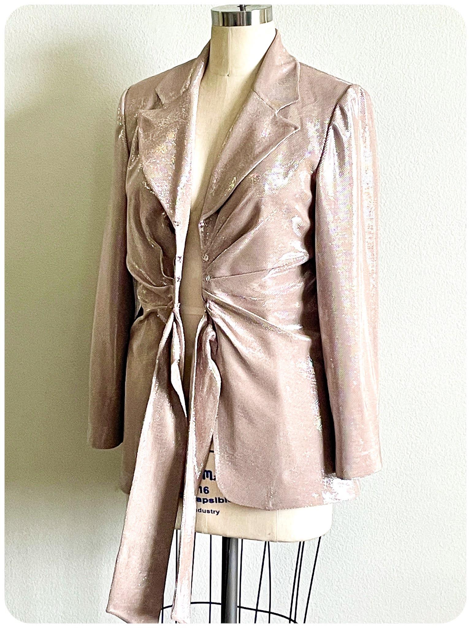 Lurex Suit - Erica Bunker DIY Style x Zelouf Fabrics