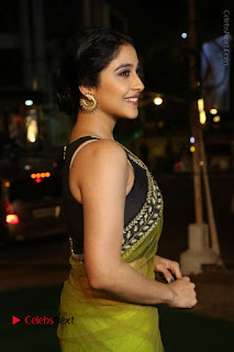 Actress Regina Stills in Green Saree at Vivaha Bhojanambu Restaurant Launch  0058.JPG