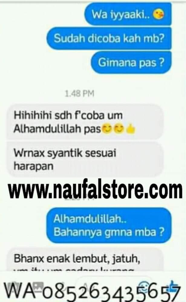 Testimoni pelanggan Naufal Store