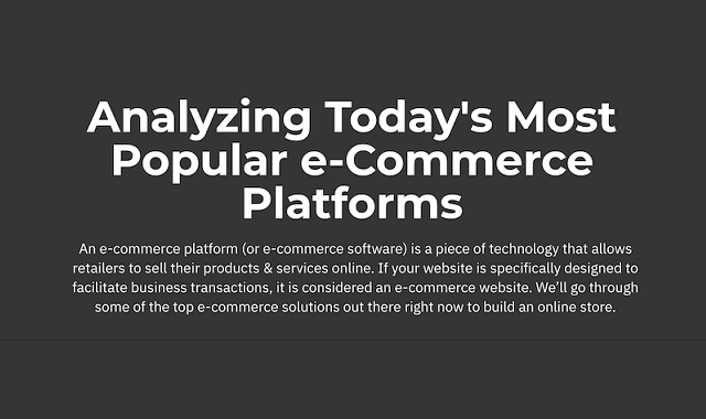 Most popular E-Commerce platforms today