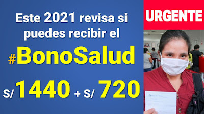 Otorgan el Bono Salud MEF de 720 soles para enfrentar el Coronavirus en Perú