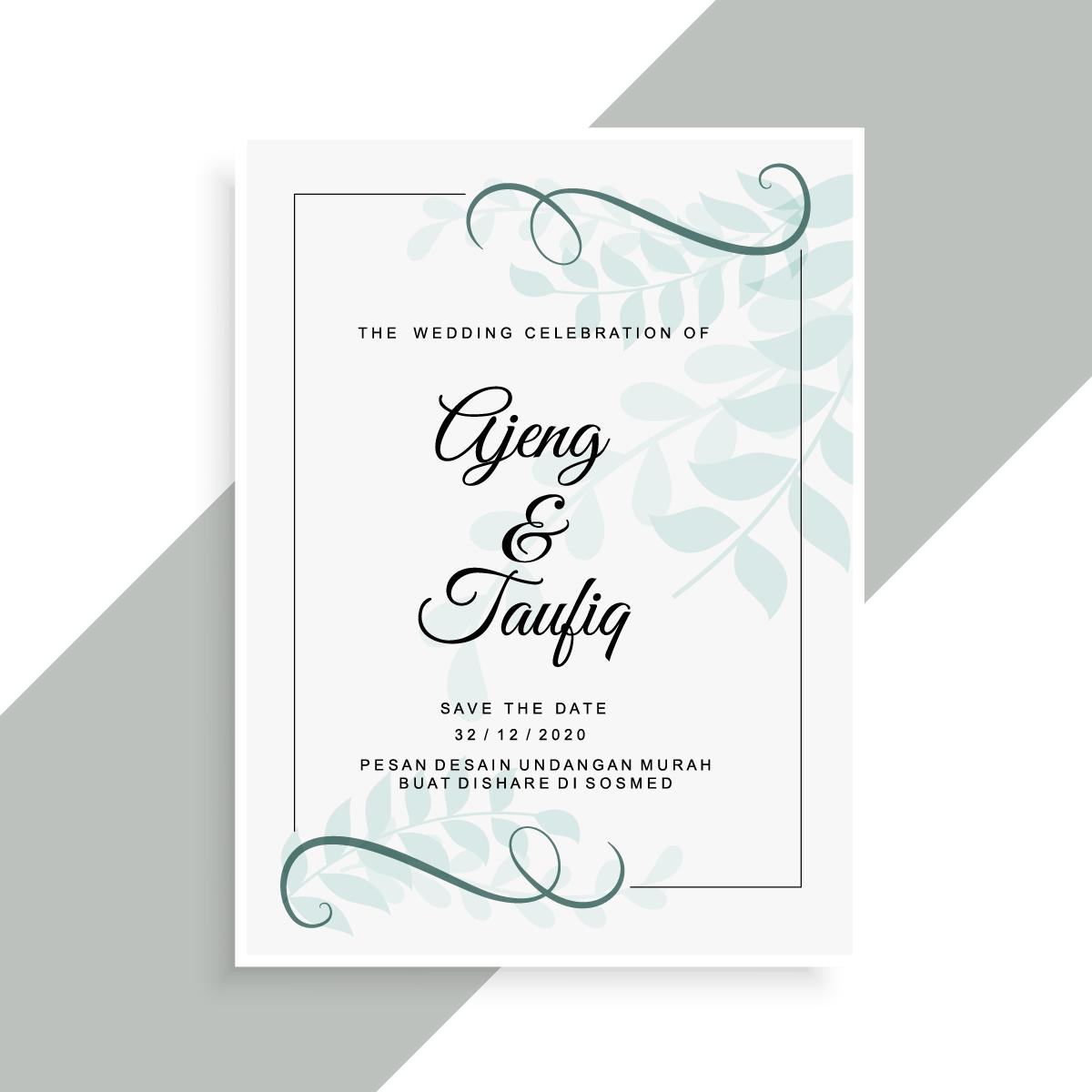 Contoh Hasil Pemesanan Desain Undangan Pernikahan