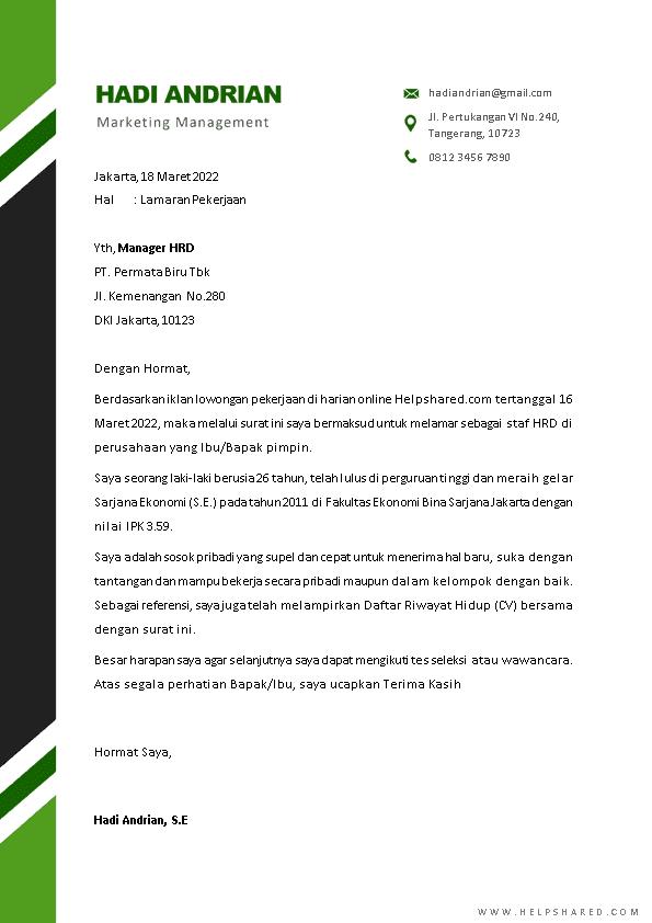 Kop Surat Lamaran Kerja 21