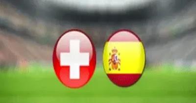 مباراة اسبانيا وسويسرا بث مباشر