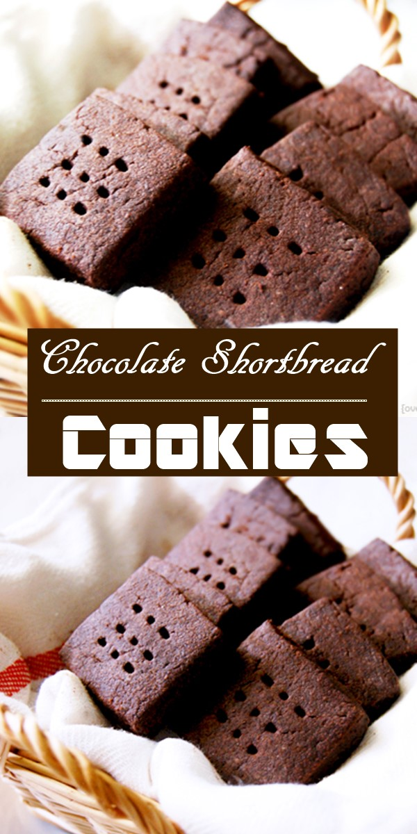 Chocolate Shortbread Cookies #Cookiesrecipes