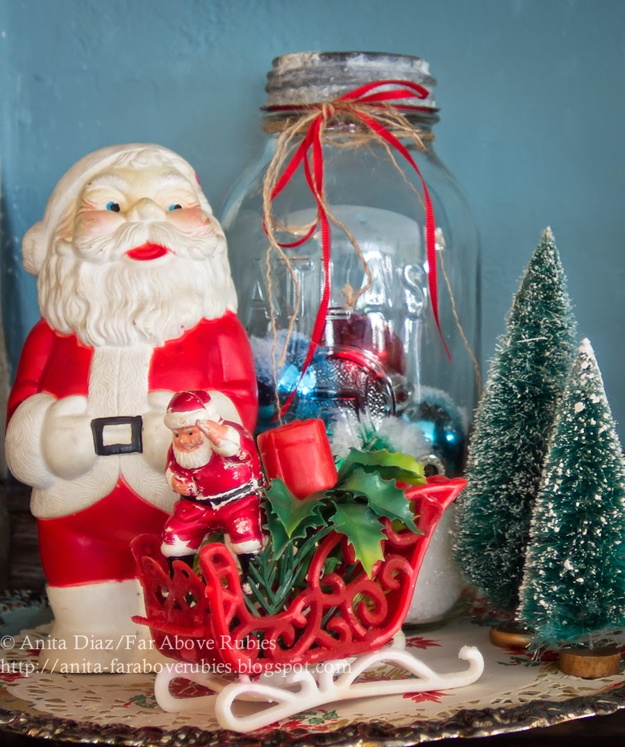 Vintage Christmas Decorations- Far Above Rubies-How I Found My Style Sundays- Christmas Edition- From My Front Porch To Yours