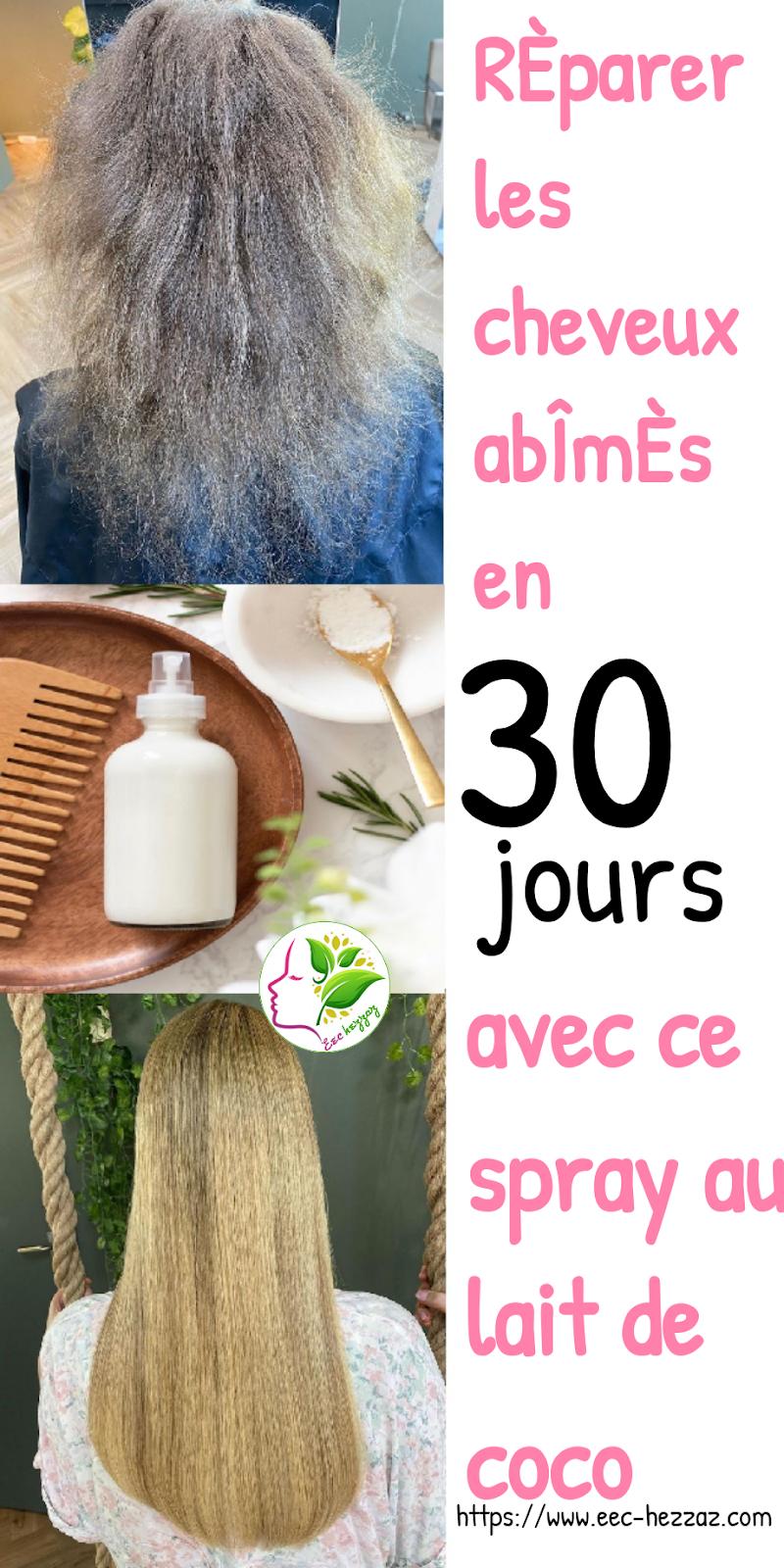 Réparer les cheveux abîmés en 30 jours avec ce spray au lait de coco
