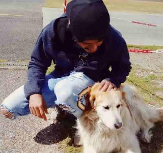 Anand Devarakonda With Dog