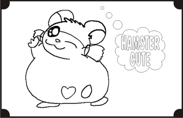 Hamster art paper for Hamster coloring pages to print