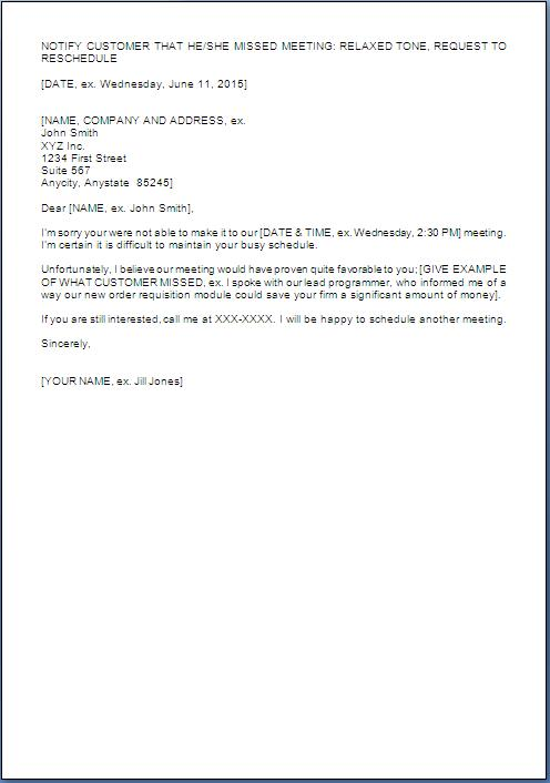 Reminder Letter For Not Attending Meeting