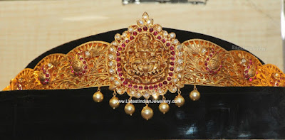 antique gold designer vaddanam