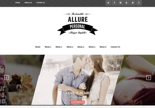 Allure SEO Ready Blogger Template Full Version Free Download