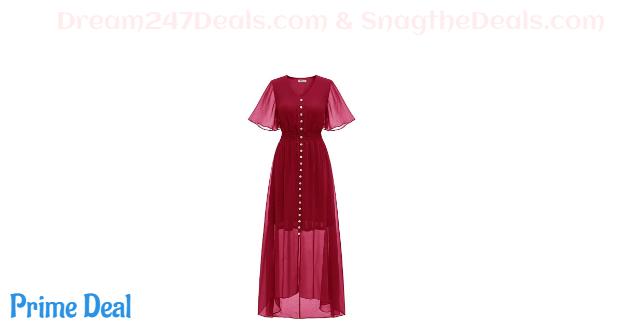 50%Off V-neck bohemian dress
