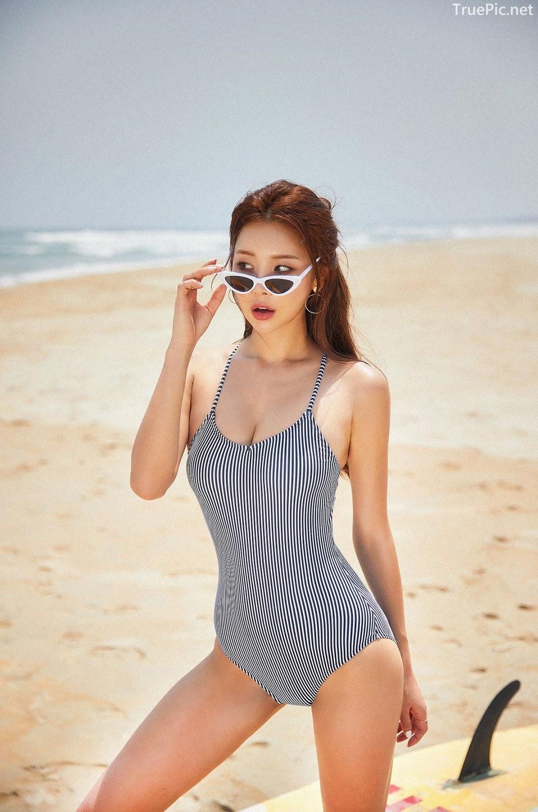 Korean model and fashion - Park Da Hyun - Hightension Swimsuit Set - Picture 3