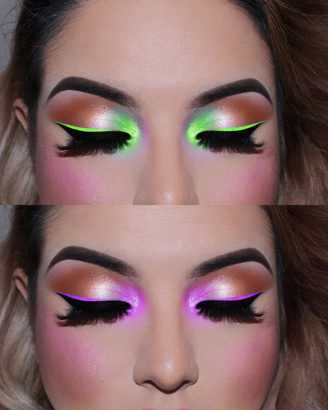 Maquiagem sombra neon carnaval