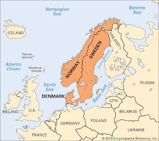 Peta Negara-Negara Skandinavia | Catatan Adi
