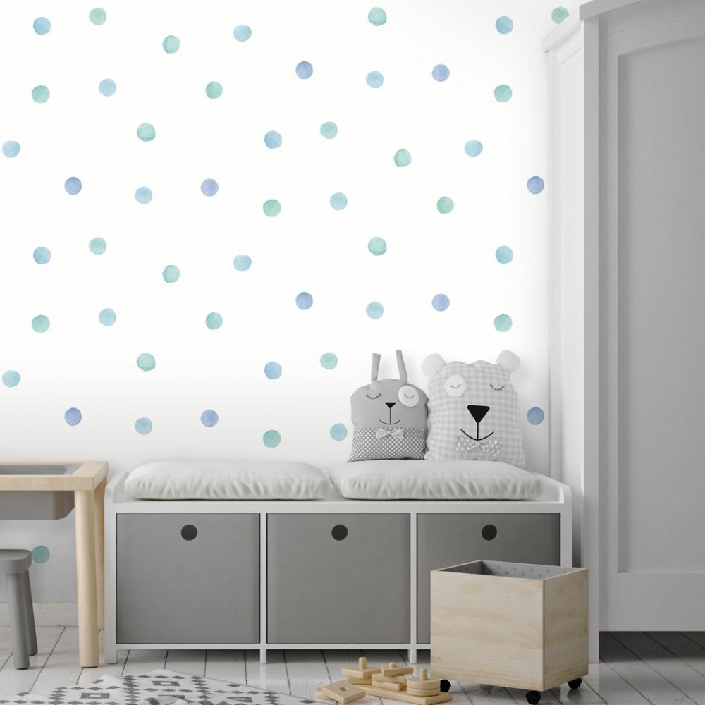 polka dot kids wallpaper, Stylish & Modern Children's Room & Nursery Wallpaper & Wall Mural Ideas