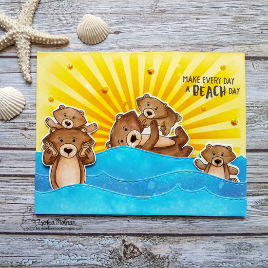 Make every day a beach day by Zsofia features Papa Bear, and Aloha Newton by Newton's Nook Designs; #newtonsnook