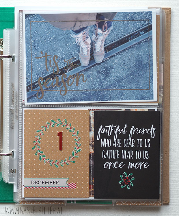 December Daily Cest la schnipselritter bastelritter stampin up