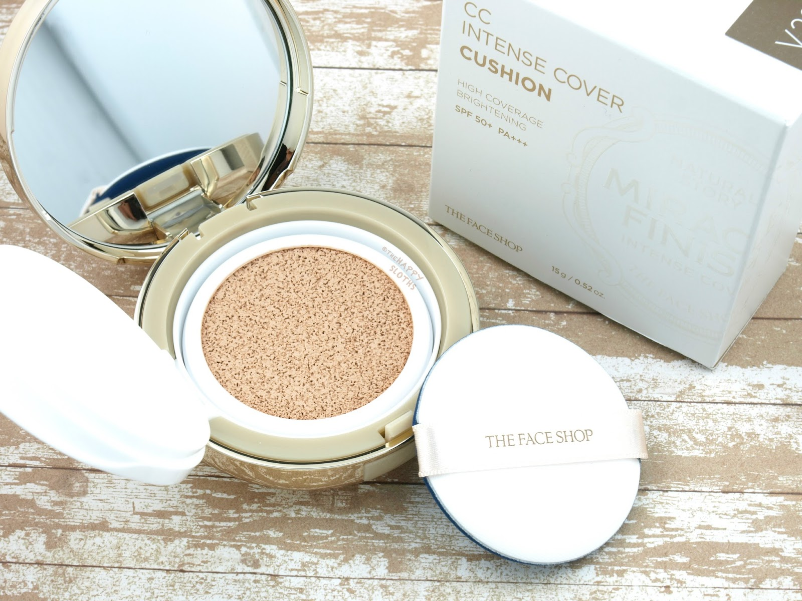 THE FACE SHOP Miracle Finish CC Intense Cover Cushion Foundation: Review and Swatches