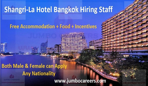 Hotel jobs in Bangkok with accommodation,