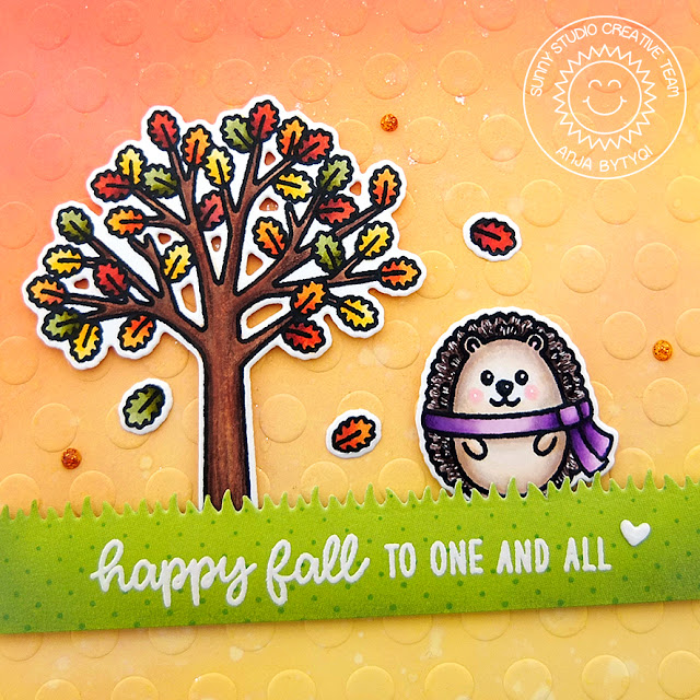 Sunny Studio Stamps: Woodsy Autumn Comic Strip Everyday Dies Fall Themed Card by Anja Bytyqi