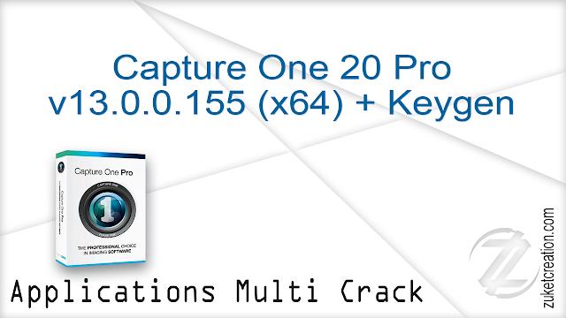 Capture One 20 Pro v13.0.0.155 (x64) + Keygen