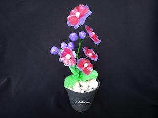 Cara membuat bunga dari kresek plastik tanpa setrika dan lem tembak