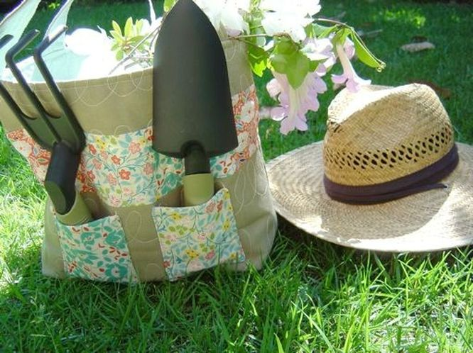 Quilted Garden Tote Bag Tutorial