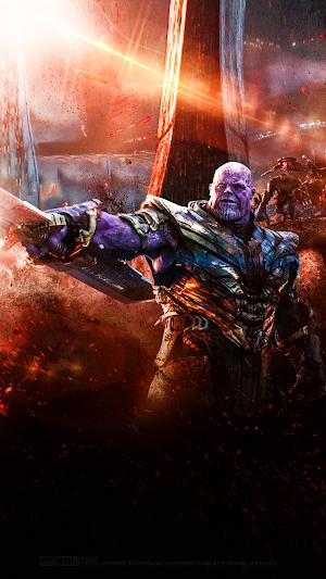 Avengers Endgame Thanos Cell Wallpaper HD 4K