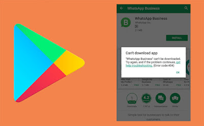 Error Download di Google Play Store
