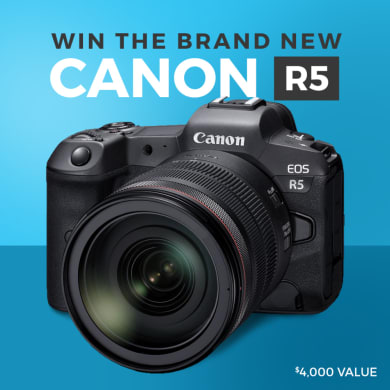 Canon R5 Giveaway ( Worth Over : $5430)